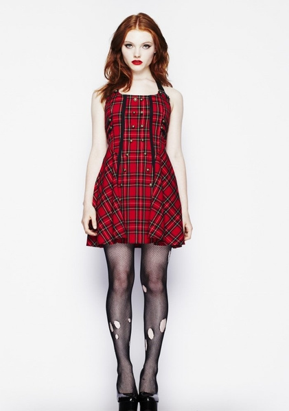 Hell Bunny Dresses - Rock Dress - London Red Tartan - www.jackoflondon.co.uk by JackPitar