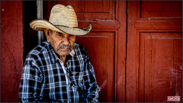 Portrait of  a blind Mexican man by Gino De  Grandis