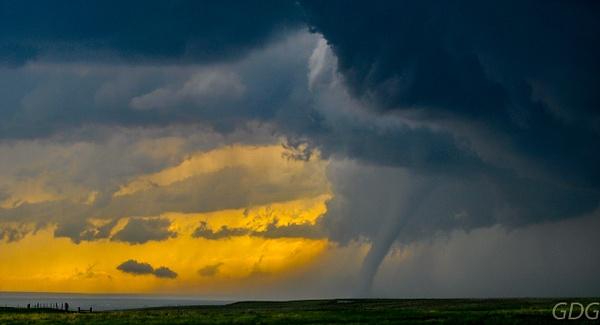 Tornado Touchdown by Gino De  Grandis