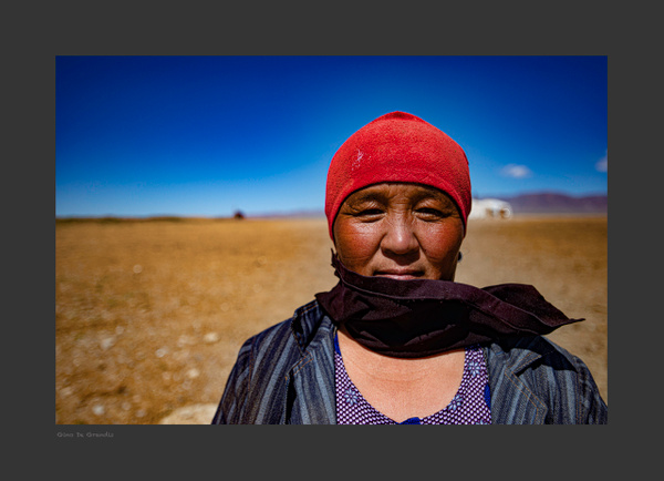 Gobi Desert Woman by Gino De  Grandis