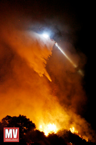 Helicopter, Griffith Park Wildfire