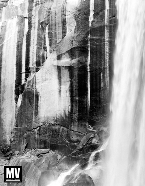 Granite, Vernal Falls, Yosemite by Michael Mariant