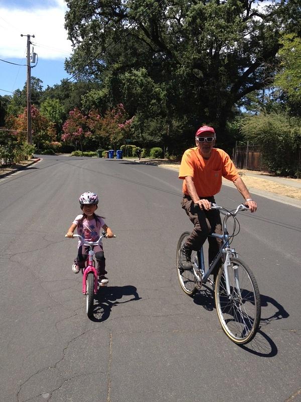biking with GP