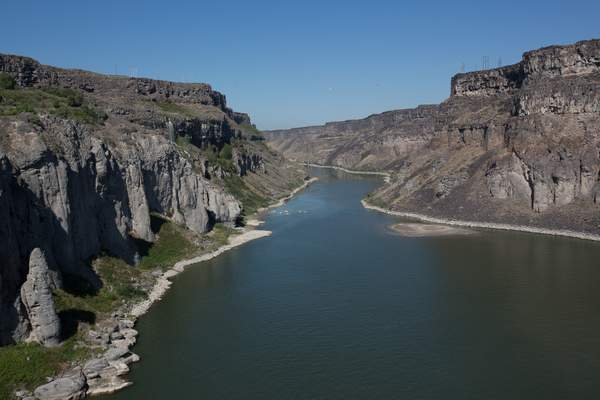 Snake River north from Twin Falls ID