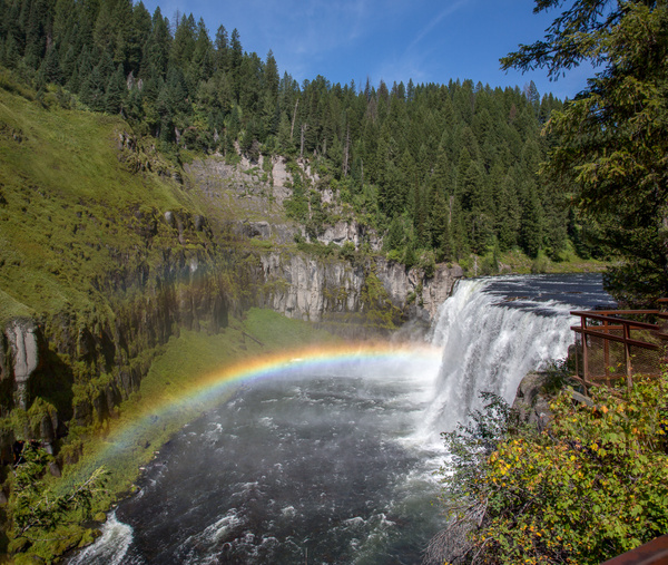 Mesa Falls & Road South to Twin Falls by Harrison...