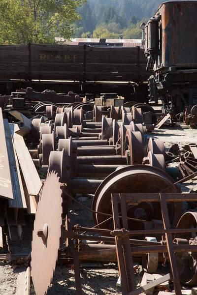 Old Train Parts