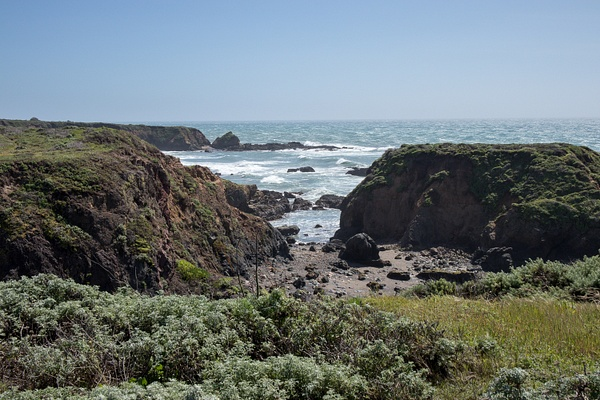 North of San Simeon CA by Harrison Clark