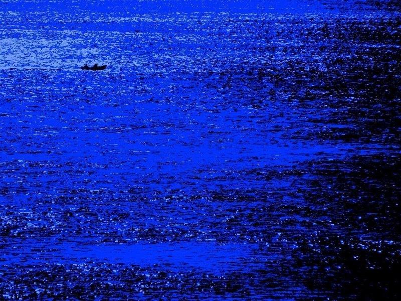Bleu marine...