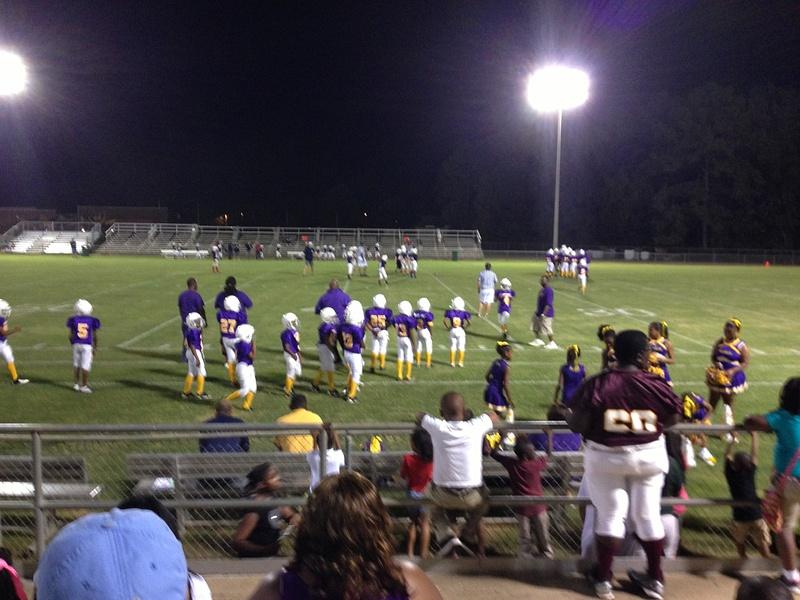 Landen's First Football Game Dothan 2013