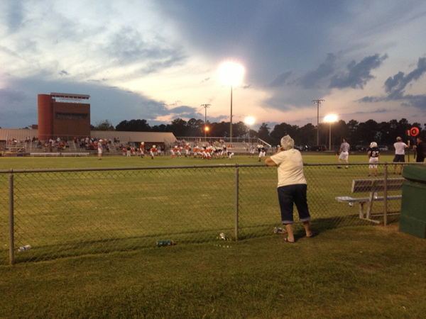 Landen's First Football Game Dothan Sept 2013 (2) by...