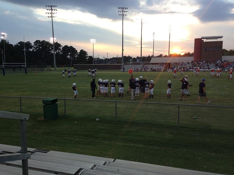 Landen's First Football Game Dothan Sept 2013