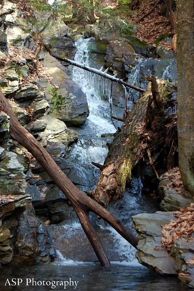 third waterfall at wantastiquet natural area-1 by...