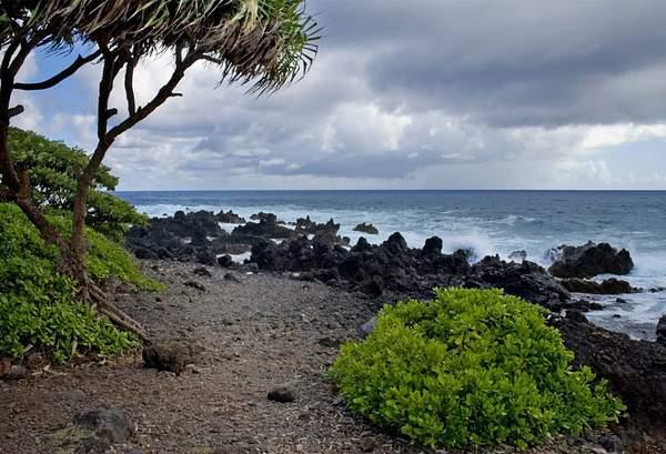 Beach Along the Hana Coast Maui, Hawaii