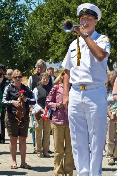 Playing Taps at Dedication of Port Chicago National Historic Site Dedication