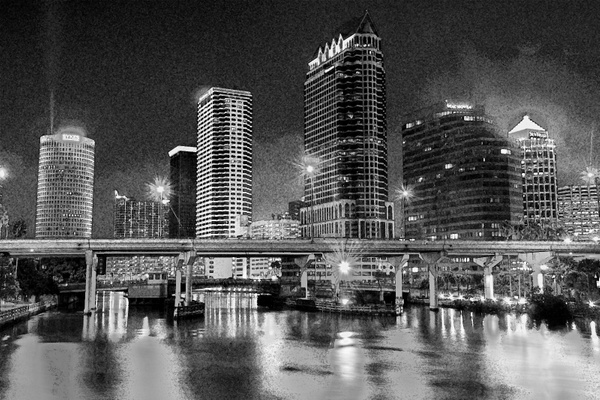 Tampa Skyline & St Pete Neon by ChristopherHolt