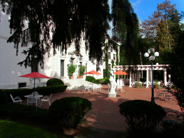 Patio - Geneva on the Lake Inn by DouglasGellatly