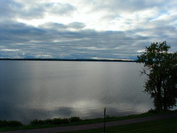 Seneca Lake at dusk by DouglasGellatly