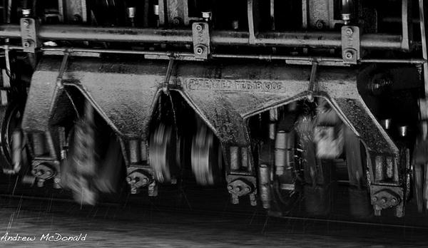 Detail of Locomotive wheels