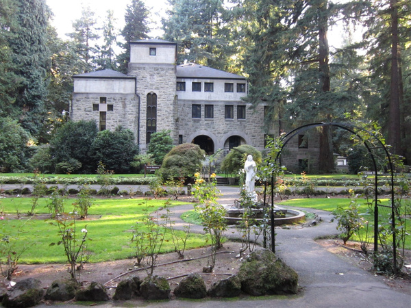 Oregon Day 7 evening- The Grotto grounds by KatyWolfe
