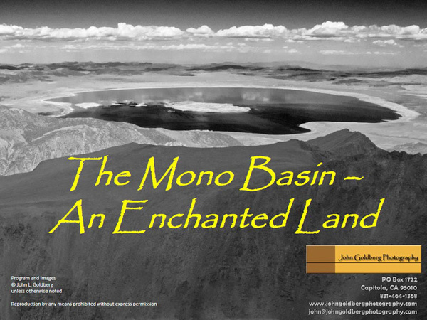 The Mono Basin - An Enchanted Land by John Goldberg