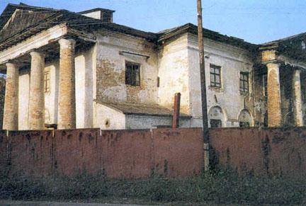 Former church, now a factory, in Dobrinka, oldest German settlement on the Volga, 1992