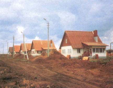 Single family houses in Stepnoje (Volga region), likewise sponsored by the Federal Ministry of the Interior