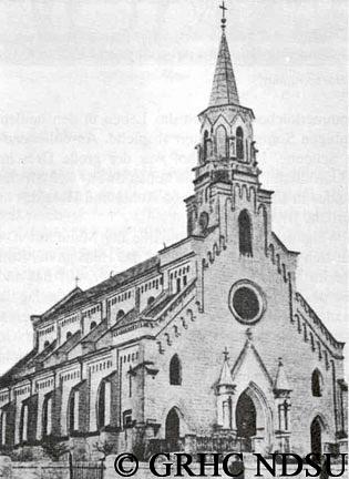 Parish church in Karlsruhe, Beresan region by Svetlana...