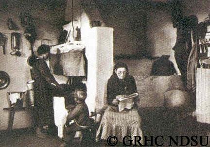 Parlor in peasant dwelling - (Kamenka) -Elisabethdorf,...