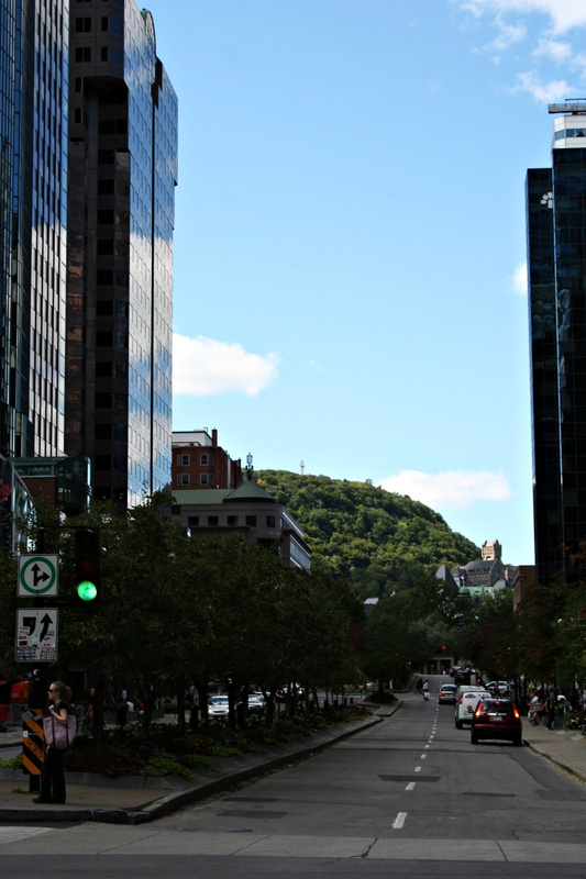 Montreal Blick auf  Mont Real 043
