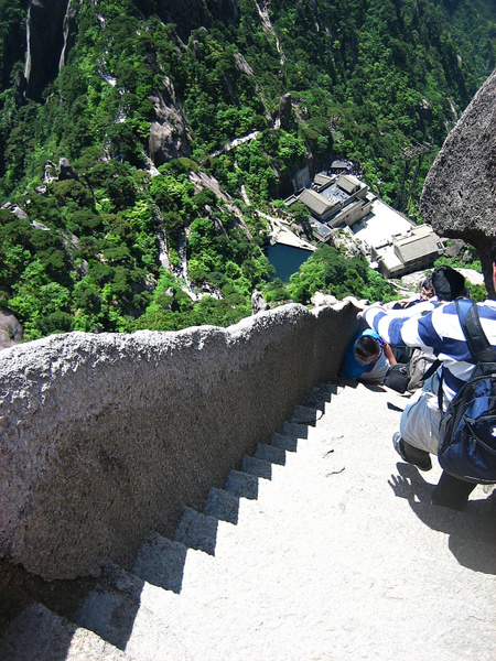 HuangShan 203 StairsDown by StefsPictures