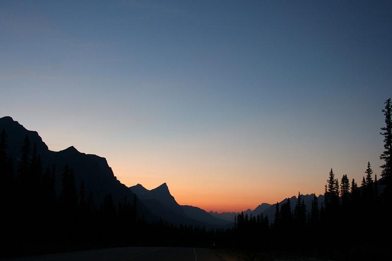 RM 424 Sonnenuntergang am Hector Lake