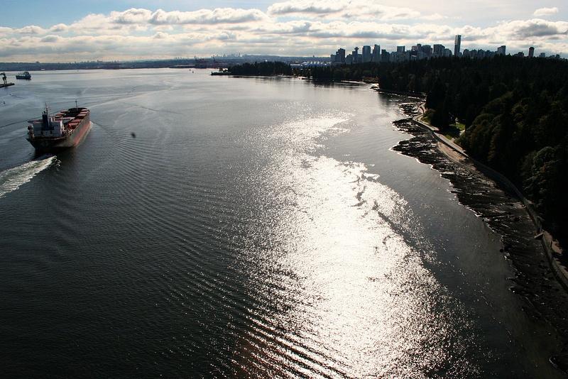 Vancouver 243 Lions Gate Bridge - Blick auf Vancouver
