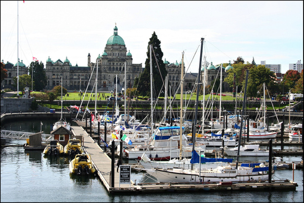 Vancouver 537 Vancouver Island - Victoria - Hafen u BC Parlament by StefsPictures