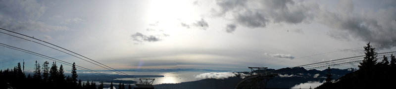 Vancouver 472 Grouse Mountain - panorama