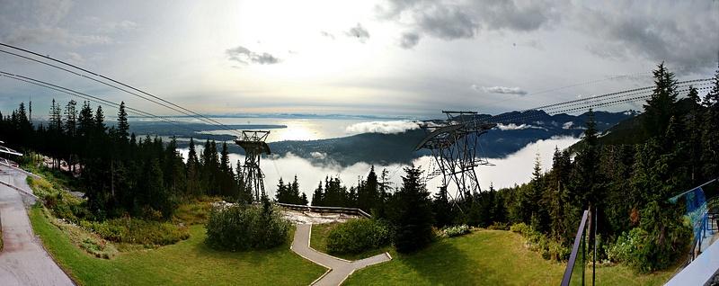 Vancouver 471 Grouse Mountain - Der Ausblick war die Schinderei wert