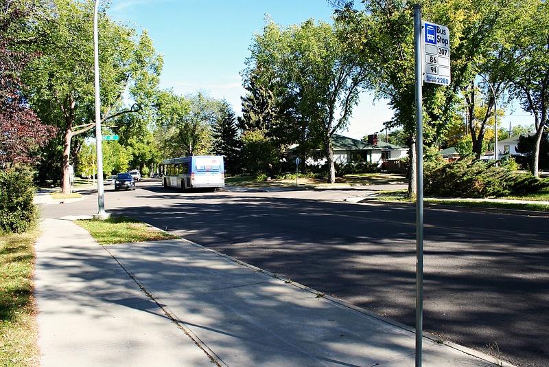 Edmonton 12 meine Bushaltestelle