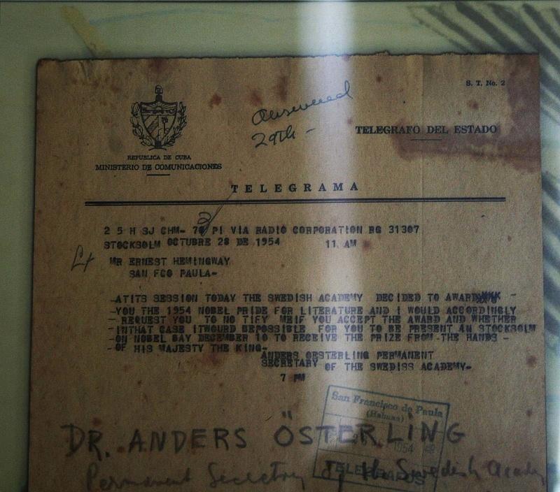 Havanna 092 - Mitteilung ueber Nobelpreis