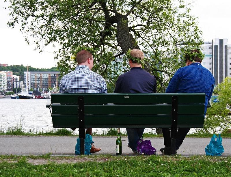 ein typische sommerlicher Samstag in Schweden