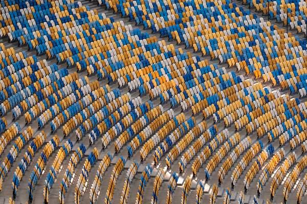 Seats at Olympic stadium, Kyiv, Ukraine