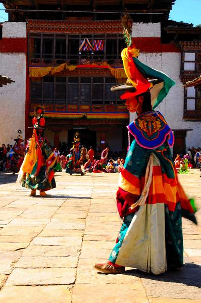BlackBlack  Hat Dance at the Tchechu at Wangdue, Bhutan