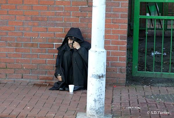 Beggar in Leeds