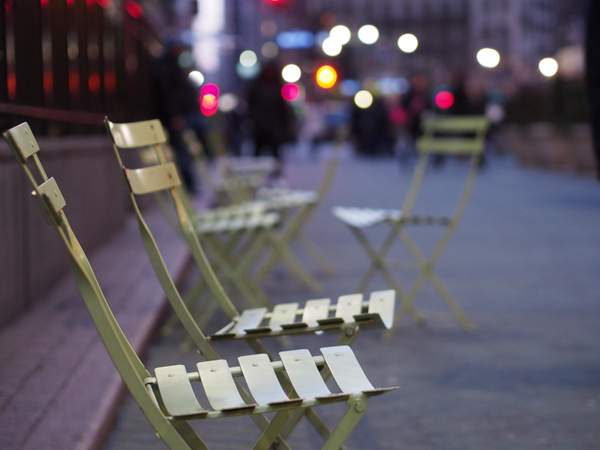 Chairs in the city