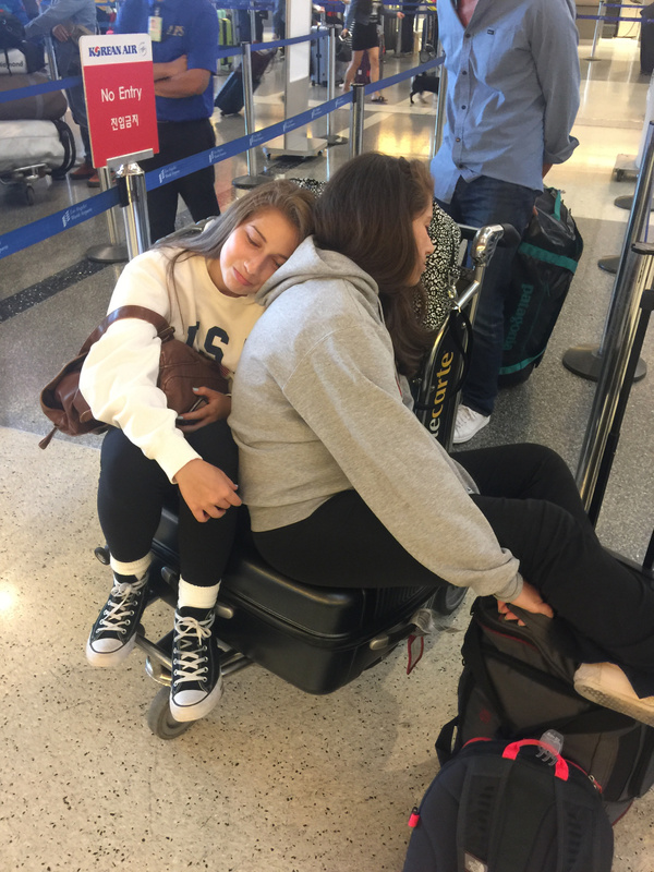 5 hours into our layover at LAX