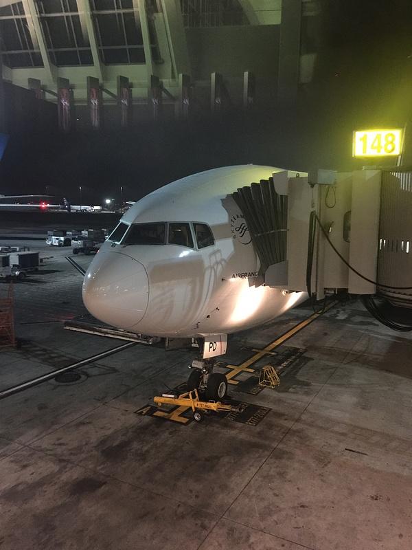 Air France flight 76 LAX - PPT