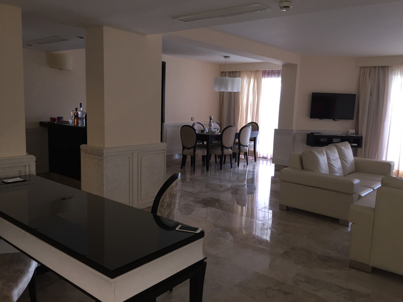 View of living and dining area