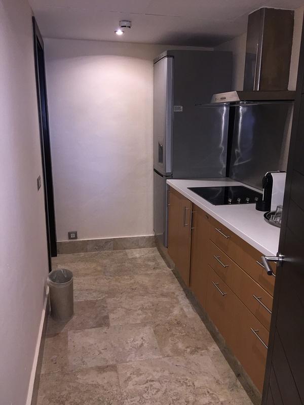 Full kitchen behind Bar