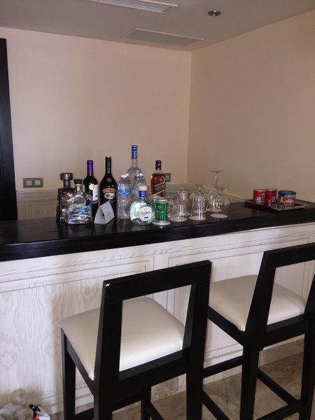 Full bar with stools by Lovethesun