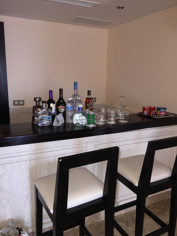Full bar with stools