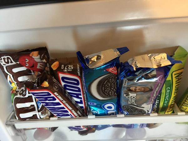 Snacks in refrigerator by Lovethesun