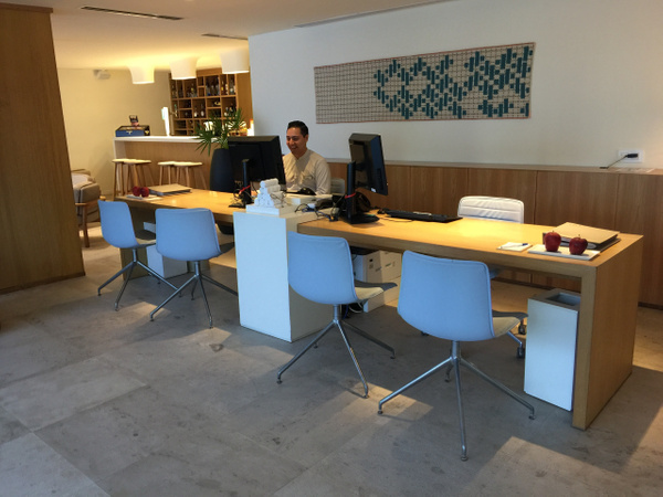 Concierge in Finest club lounge inside building 5 by...